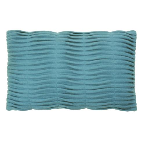 small wave petrol blue kussen blauw hinck amsterdam woonaccessoires met bijzondere texturen met oog voor detail van een hoge kwaliteit