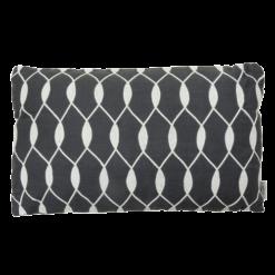 entwined charcoal grey kussen hinck amsterdam woonaccessoires met bijzondere texturen met oog voor detail van een hoge kwaliteit