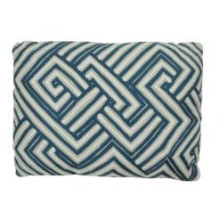 bandage blue kussen blauw hinck amsterdam woonaccessoires met bijzondere texturen met oog voor detail van een hoge kwaliteit