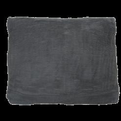 strings charcoal grey kussen hinck amsterdam woonaccessoires met bijzondere texturen met oog voor detail van een hoge kwaliteit
