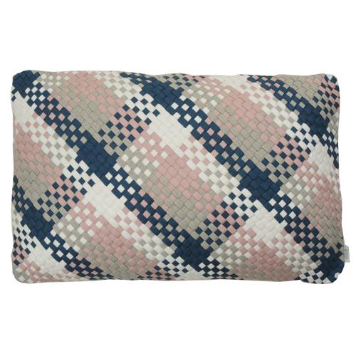 Multi weave linnen pale pink kussen hinck amsterdam woonaccessoires met bijzondere texturen met oog voor detail van een hoge kwaliteit