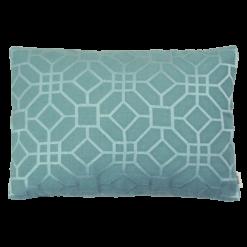 marokkaans borduur aqua kussen blauw hinck amsterdam woonaccessoires met bijzondere texturen met oog voor detail van een hoge kwaliteit