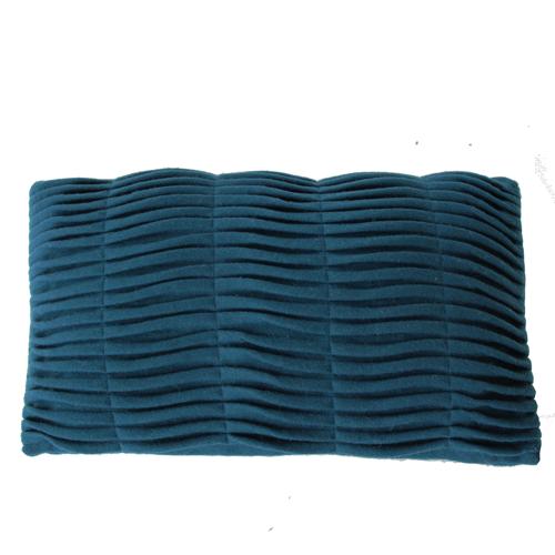 small wave deep blue kussen blauw hinck amsterdam woonaccessoires met bijzondere texturen met oog voor detail van een hoge kwaliteit