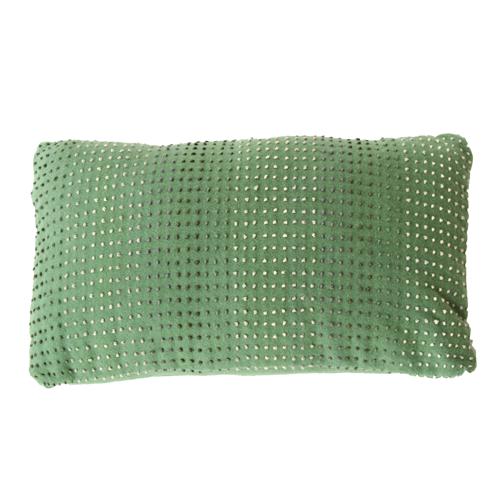 knot green kussen hinck amsterdam woonaccessoires met bijzondere texturen met oog voor detail van een hoge kwaliteit