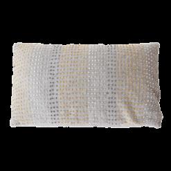 knot light grey okergeel kussen hinck amsterdam woonaccessoires met bijzondere texturen met oog voor detail van een hoge kwaliteit