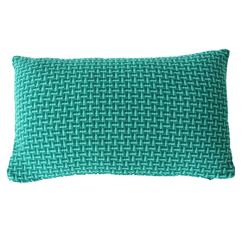 Basket weave rich green small groen felgroen diepgroen donkergroen kussen hinck amsterdam katoen 35x55 cm woonaccessoires met bijzondere texturen met oog voor detail, handgemaakt en of handgeweven