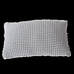 Basket weave grey small grijs donkergrijs antraciet wit lichtgrijs kussen hinck amsterdam katoen 35x55 cm woonaccessoires met bijzondere texturen met oog voor detail, handgemaakt en of handgeweven
