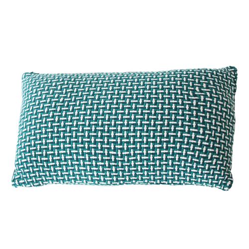 basket weave sea blue small blauw diepblauw felblauw kussen hinck amsterdam katoen 35x55 cm woonaccessoires met bijzondere texturen met oog voor detail, handgemaakt en of handgeweven