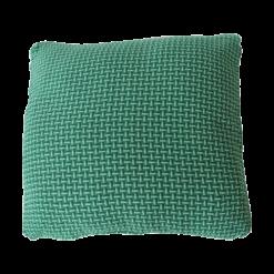 Basket weave green large groen felgroen diepgroen donkergroen kussen hinck amsterdam katoen 60x60 cm woonaccessoires met bijzondere texturen met oog voor detail, handgemaakt en of handgeweven