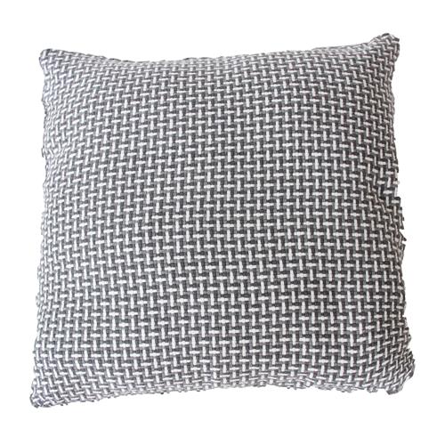 Basket weave grey large grijs donkergrijs antraciet wit lichtgrijs kussen hinck amsterdam katoen 60x60 cm woonaccessoires met bijzondere texturen met oog voor detail, handgemaakt en of handgeweven