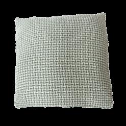 Basket weave mintgreen large groen mint mintgroen zachtgroen lichtgroen kussen hinck amsterdam katoen 60x60 cm woonaccessoires met bijzondere texturen met oog voor detail, handgemaakt en of handgeweven
