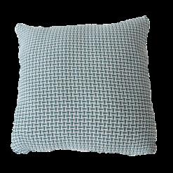 Basket weave petrol blue large blauw lichtblauw zachtblauw zeeblauw kussen hinck amsterdam katoen 60x60 cm woonaccessoires met bijzondere texturen met oog voor detail, handgemaakt en of handgeweven
