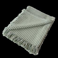 Basket weave plaid mintgreen groen zachtgroen mint mintgroen hinck amsterdam katoen 130x170 cm woonaccessoires met bijzondere texturen met oog voor detail, handgemaakt en of handgeweven