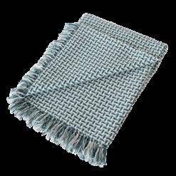 Basket weave plaid petrol blue blauw zachtblauw lichtblauw zeeblauw hinck amsterdam katoen 130x170 cm woonaccessoires met bijzondere texturen met oog voor detail, handgemaakt en of handgeweven