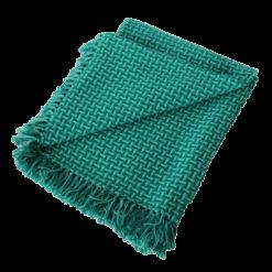 Basket weave plaid rich green groen diepgroen felgroen hinck amsterdam katoen 130x170 cm woonaccessoires met bijzondere texturen met oog voor detail, handgemaakt en of handgeweven