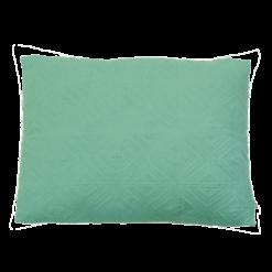 geo linnen aqua kussen blauw hinck amsterdam woonaccessoires met bijzondere texturen met oog voor detail van een hoge kwaliteit