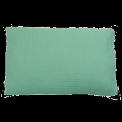 hypnose linnen aqua kussen blauw hinck amsterdam woonaccessoires met bijzondere texturen met oog voor detail van een hoge kwaliteit