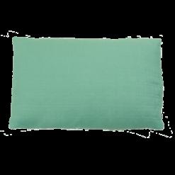 excel linnen aqua kussen blauw hinck amsterdam woonaccessoires met bijzondere texturen met oog voor detail van een hoge kwaliteit