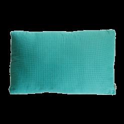 wafel sea blue medium kussen hinck amsterdam woonaccessoires met bijzondere texturen met oog voor detail van een hoge kwaliteit
