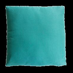 wafel sea blue large kussen hinck amsterdam woonaccessoires met bijzondere texturen met oog voor detail van een hoge kwaliteit