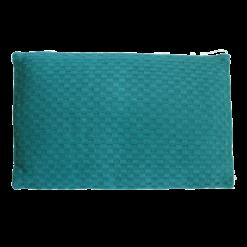 grove weving colonial blue medium kussen hinck amsterdam woonaccessoires met bijzondere texturen met oog voor detail van een hoge kwaliteit
