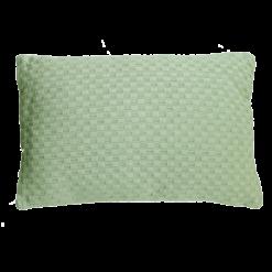 grove weving mintgreen medium kussen hinck amsterdam woonaccessoires met bijzondere texturen met oog voor detail van een hoge kwaliteit