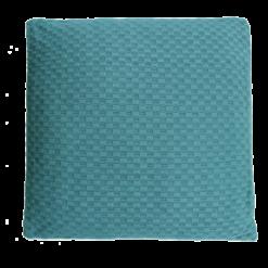 grove weving colonial blue large kussen hinck amsterdam woonaccessoires met bijzondere texturen met oog voor detail van een hoge kwaliteit