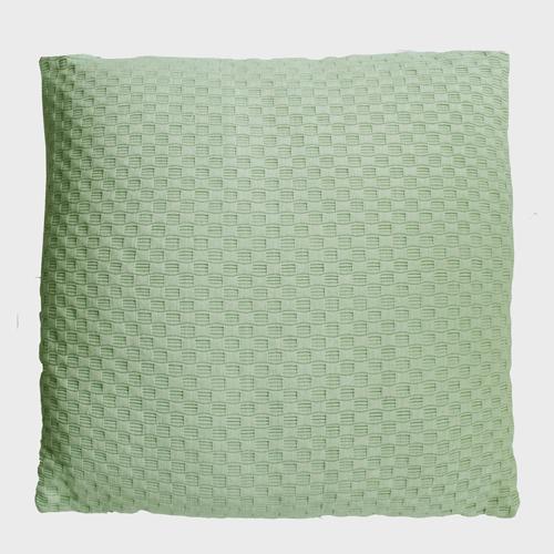 grove weving mintgreen large kussen hinck amsterdam woonaccessoires met bijzondere texturen met oog voor detail van een hoge kwaliteit