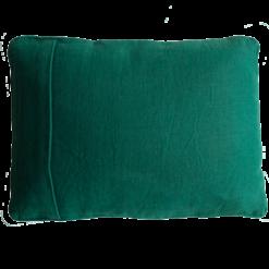 Basic piping cadmium green small kussen hinck amsterdam woonaccessoires met bijzondere texturen met oog voor detail van een hoge kwaliteit