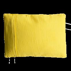 Basic piping sulphur small okergeel kussen hinck amsterdam woonaccessoires met bijzondere texturen met oog voor detail van een hoge kwaliteit