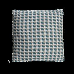 Three color weave colonial blue blauw donkerblauw beige taupe wit kussen hinck amsterdam katoen 50x50 cm woonaccessoires met bijzondere texturen met oog voor detail, handgemaakt en of handgeweven