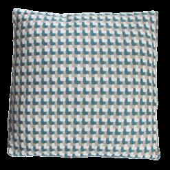 Three color weave colonial blue large blauw donkerblauw beige taupe wit kussen hinck amsterdam katoen 60x60 cm woonaccessoires met bijzondere texturen met oog voor detail, handgemaakt en of handgeweven
