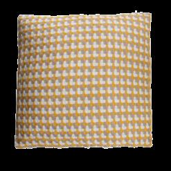 Three color weave ocre large oker ochre ocre geel taupe wit beige kussen hinck amsterdam katoen 60x60 cm woonaccessoires met bijzondere texturen met oog voor detail, handgemaakt en of handgeweven