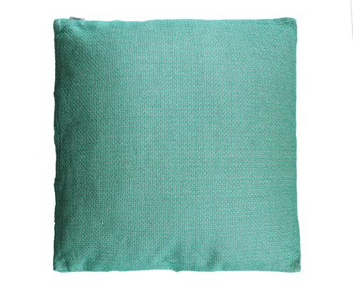 Melange cadmium large groen blauw kussen hinck amsterdam linnen 60x60 cm woonaccessoires met bijzondere texturen met oog voor detail, handgemaakt en of handgeweven