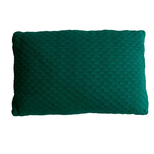 grove weving cadmium green small kussen hinck amsterdam woonaccessoires met bijzondere texturen met oog voor detail van een hoge kwaliteit