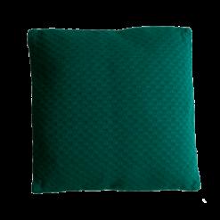 grove weving cadmium green large kussen hinck amsterdam woonaccessoires met bijzondere texturen met oog voor detail van een hoge kwaliteit