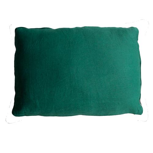 Basic piping cadmium green large kussen hinck amsterdam woonaccessoires met bijzondere texturen met oog voor detail van een hoge kwaliteit