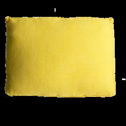 Basic piping sulphur large okergeel kussen hinck amsterdam woonaccessoires met bijzondere texturen met oog voor detail van een hoge kwaliteit