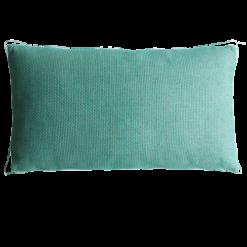 Melange cadmium groen blauw kussen hinck amsterdam linnen 40x70 cm woonaccessoires met bijzondere texturen met oog voor detail, handgemaakt en of handgeweven