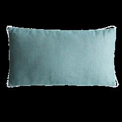 Melange colonial blue green groen blauw kussen hinck amsterdam linnen 40x70 cm woonaccessoires met bijzondere texturen met oog voor detail, handgemaakt en of handgeweven