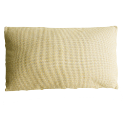 Melange ocre geel ocre oker ochre kussen hinck amsterdam linnen 40x70 cm woonaccessoires met bijzondere texturen met oog voor detail, handgemaakt en of handgeweven