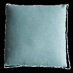 Melange colonial blue large green groen blauw kussen hinck amsterdam linnen 60x60 cm woonaccessoires met bijzondere texturen met oog voor detail, handgemaakt en of handgeweven