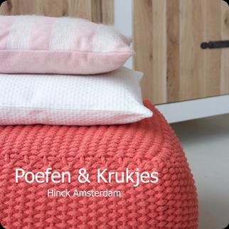 poefen en krukken knop shop hinck amsterdam woonaccessoires met bijzondere texturen met oog voor detail van een hoge kwaliteit