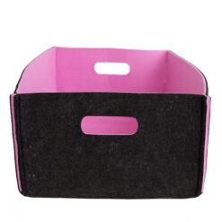 Opbergmandje donkergrijs roze large hinck amsterdam woonaccessoires met bijzondere texturen met oog voor detail van een hoge kwaliteit
