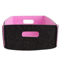 Opbergmandje donkergrijs roze medium hinck amsterdam woonaccessoires met bijzondere texturen met oog voor detail van een hoge kwaliteit