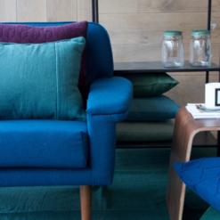 Interieur inspiratie groen blauw paars kobalt trend kussens vernieuwend hinck amsterdam woonaccessoires