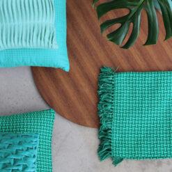 Interieur inspiratie groen aqua blauw trend kussens vernieuwend hinck amsterdam woonaccessoires