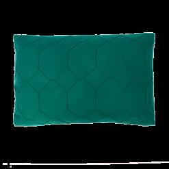 hexagon cadmium green kussen donker groen hinck amsterdam wolvilt 40x60cm woonaccessoires met bijzondere texturen met oog voor detail, handgemaakt en of handgeweven