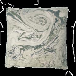 Marble green groen green marmer goud kussen hinck amsterdam katoen digital printing 50x50cm woonaccessoires met bijzondere texturen met oog voor detail, handgemaakt en of handgeweven