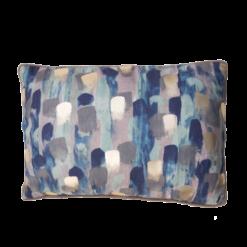 Paint blue kussen verf goud blauw roze paars hinck amsterdam polyester digital printing 35x50cm woonaccessoires met bijzondere texturen met oog voor detail, handgemaakt en of handgeweven